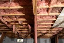 unfinished under insulated crawlspace