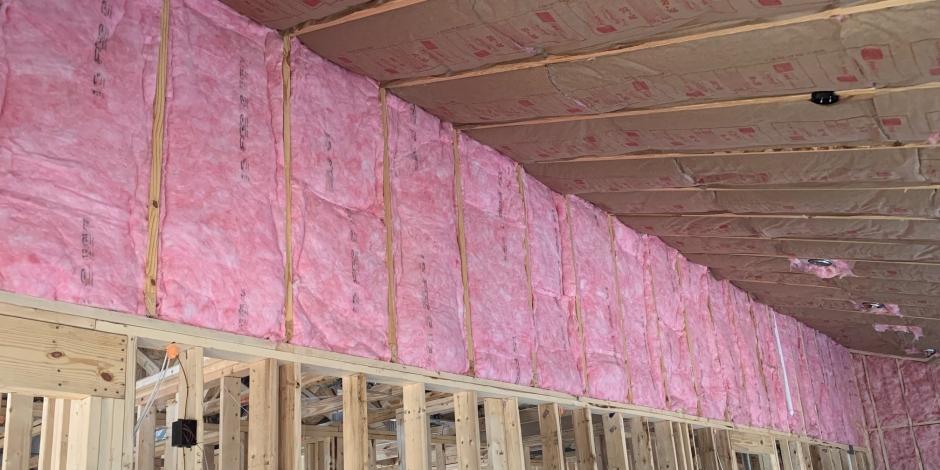 standard insulating batt insulation job